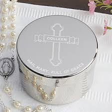 personalized keepsake boxes personalized religious rosary keepsake box of grace