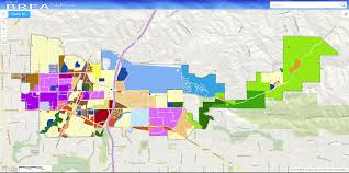 Chino Hills California Map Zoning Map U0026 Code Brea Ca Official Website