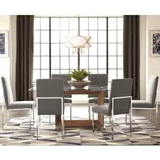 Dining Table With Grey Chairs Glass Dining Room U0026 Kitchen Tables Shop The Best Deals For Nov