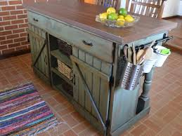 reclaimed wood kitchen island cart
