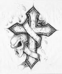 cross and skull w by yodahimself on deviantart