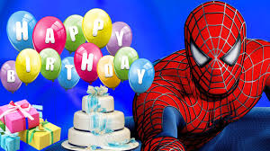 spiderman cartoons kids happy birthday song children nursery