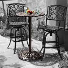 High Bistro Table Set Outdoor Wicker Commercial Outdoor Patio Furniture Norwich 5 Piece Outdoor