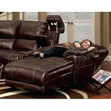 sectional power leather sectional recline relax in luxury with