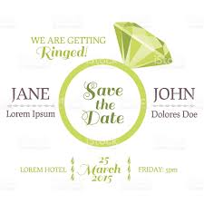 Invitation Card For Engagement Ceremony Save The Date Wedding Invitation Card With Diamond Ring Stock