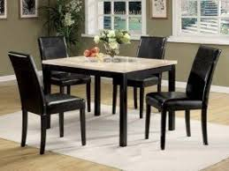 Dining Tables With 4 Chairs Faux Marble Top Dining Table Foter
