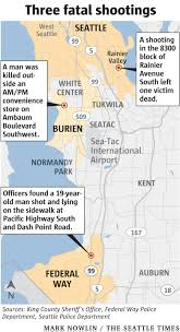 Seattle Police Map 3 Killed In Seattle Burien Federal Way Shootings The Seattle Times