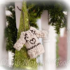 loom knitting by this moment is good loom knit sweater ornament