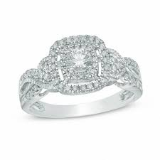 10k wedding ring 1 2 ct t w frame vintage style engagement ring in 10k