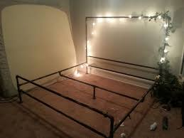 a soft industrial pipe bed frame 3 steps with pictures