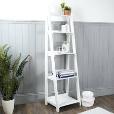 Shallow White Bookcase by Bookcase Nautical Wooden Ladder Shelves White White Library