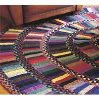 gauguin hand knitted and braided rug 94a from judi boisson