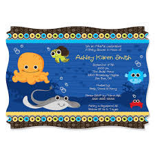 the sea baby shower the sea critters personalized baby shower invitations