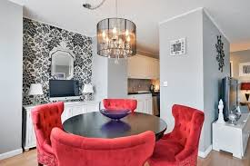 Eclectic Dining Room Chairs Eclectic Dining Room With Interior Wallpaper U0026 Hardwood Floors In