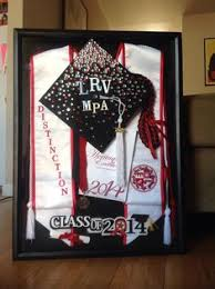 graduation shadow box grad box great to display in an office or something rather than