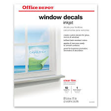 Home Design Software Office Depot by Office Depot Brand Inkjet Window Decals Matte 8 12 X 11 Pack Of 10