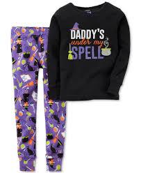 carter u0027s toddler girls u0027 2 piece halloween potions pajamas