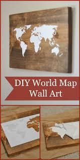 diy world map wall art tutorial using the silhouette cameo could