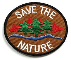 peace002 save the nature patch peace sign patch