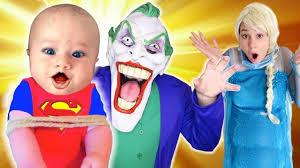 Joker Toddler Halloween Costume by Frozen Elsa Bad Baby Joker Kidnapped Prank W Spiderman