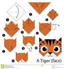 Step By Step Origami For - step by step how to make origami a tiger