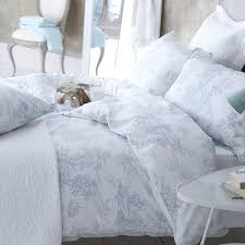 Ideas For Toile Quilt Design Jardin Toile Duvet Cover With Casual Bedroom Design And Soft Gray
