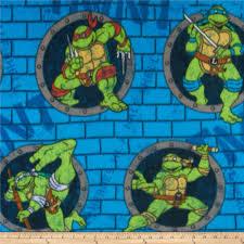 teenage mutant ninja turtles fleece turtle power sewer holes blue