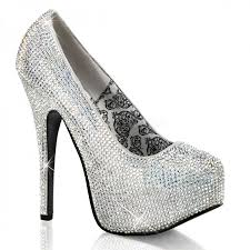 Gothic Home Decor Uk Teeze Silver Iridescent Rhinestone Platform Pump