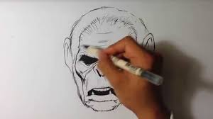 how to draw koba from planet of the apes inking easy things to