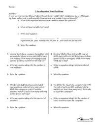 all worksheets two step problem solving worksheets printable