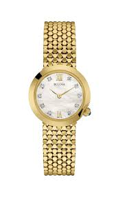 bulova ladies bracelet images Bulova ladies women 39 s designer diamond watch bracelet gold wrist jpg