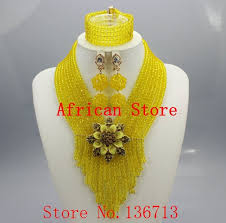 african beads necklace sets images Lovely purple single african women beads jewelry set nigerian jpg