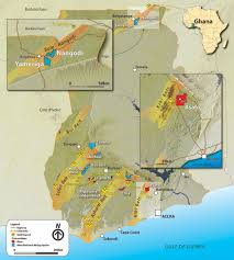 Accra Ghana Map Cartography U2014 Ellis Park Maps