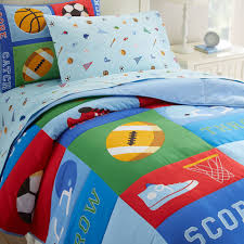 blue sports game kids bedding twin full queen comforter set cotton