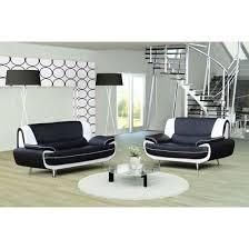 canapé design 3 2 bregga 2 noir blanc achat vente canapé sofa
