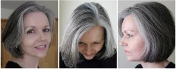 images of grey hair in transisition grey hair