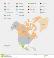 North America Map by North America Map And Flags Royalty Free Stock Photos Image