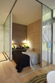 studio bedroom ideas sliding door as partition of studio apartment bedroom interior