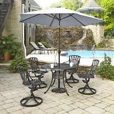 Patio Table With Umbrella 4 5 Person Patio Dining Furniture Patio Furniture The Home Depot