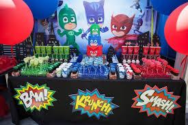 superhero wedding table decorations kara s party ideas pj masks superhero birthday party kara s party