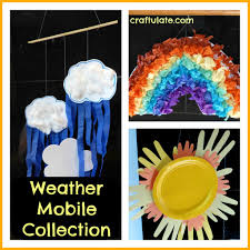 kids will love making these weather mobiles weather mobile