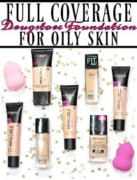 light coverage foundation for oily skin the 4 best full coverage drugstore foundations for oily skin