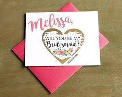 how to ask will you be my bridesmaid personalized scratch gold heart will you be my
