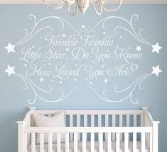 twinkle little star personalised nursery wall sticker twinkle little star wall art sticker personalised