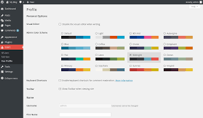 changing your wordpress admin color scheme inmotion hosting