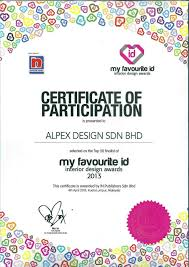 Certificate Of Interior Design by Alpex Design Sdn Bhd Design U0026 Build Service Interior Design