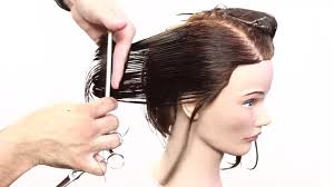 under bob hairstyle how to cut a long bob with layers triangle graduation haircut