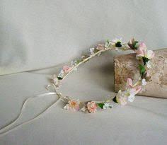 Shabby Chic Wedding Accessories by Baby Birthday Hair Wreath Dried Flower Crown Blush Peach Simple