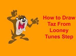draw taz looney tunes step step