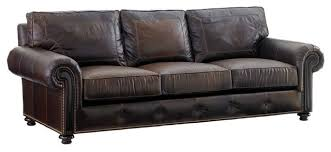 Tommy Bahama Sofa by Tommy Bahama Home Kilimanjaro Riversdale Leather Sofa